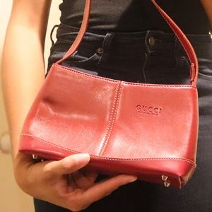 Handbags - Maroon Red Baguette Purse
